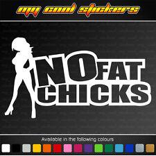 No Fat Chicks Vinyl Sticker Decal, 4X4 JDM Ute Car drift race