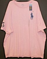 Polo Ralph Lauren Big and Tall Mens LT Pink Heather Big Pony Polo T-Shirt NWT LT