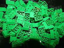 Lego Lot Of 25 Green 2x3 Bricks Building Pieces 2 x 3