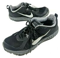 Nike Wild Trail Mens Athletic Trail Running Shoes Size 10 Black Gray 642833-001