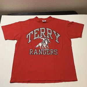 Vintage Terry Rangers HS T Shirt Rosenburg Texas Single Stitch USA Men's XL