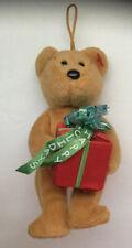 Vintage Ty Jingle Beanies Brown Bear Rattler Happy Holidays