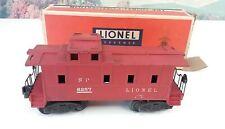Postwar Lionel 6257 Dark Red O Gauge Caboose with Original Box