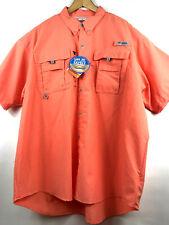 Columbia PFG Bahama II Mens Small Omni-Shade Vented Long Sleeve Fishing Shirt