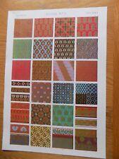 Original Book Print Grammar of Ornament Owen Jones 13x9 Inch Indian 3