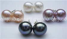 Wholesale 4Pairs 7-8mm Cultured Pearl Silver Stud Earrings Grade JE146