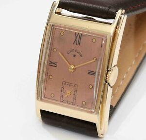 1945 vintage Lord Elgin 21 Jewel Mens Wristwatch - EXCELLENT & WORKING