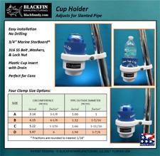 Boat Drink Holder Koozie - Marine Boat - Pipe Mount / Angle