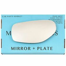 Left passenger side Wing mirror glass for TVR chimaera Griffith 1992-03 +plate