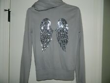 Women's Victoria's Secret Gray Hoodie Wings Jacket Size XS
