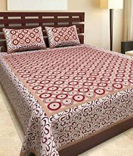 Comfort Rajasthani Traditional King Size Double Bedsheets with Pillow Covers
