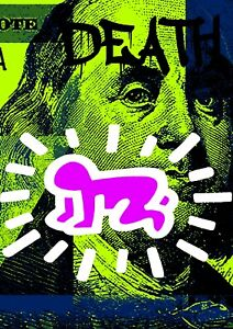 "45x32cm Death NYC Ltd Ed LARGE Signed Graffiti Pop Art Print ""Ben har 3"""