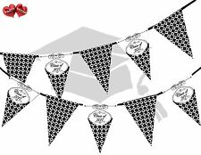 Congratulations Graduate Class Of 2017 Argyle Pattern Bunting Banner 15 flags