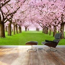 Cherry Blossom trees - Landscape - Wall Mural, Removable Sticker -100x144 inches