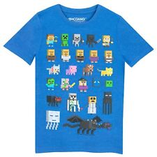 Minecraft Boys T-shirt Blue Age 8 to 9 Years