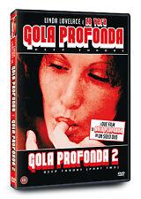 DVD LA VERA GOLA PROFONDA 1+GOLA PROFONDA 2  DEEP THROAT  Linda Lovelace NUOVO