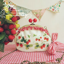 Strawberry Woman Sweet Dolly Lolita Handbag Kawaii Princess Shoulder Bag #P98