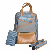 Palm Infant Diaper Backpack with Complementary Changing Pad, Stroller Straps