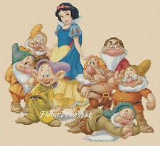 Disney Cross stitch chart Snow White and The Seven Dwarfs FlowerPower37-uk