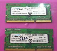 MiCRON / ELPIDA 2x 1gb = 2GB RAM MEMORY DDR3 PC3- 1Rx8 8500S-7-00-BP 128MX64 DDR