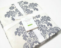 Pottery Barn Gray Lucianna Medallion Cotton Twin Duvet Cover New