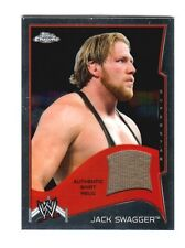 WWE Jack Swagger 2014 Topps Chrome Event Used Shirt Relic Card Brown