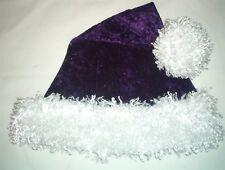 "24"" PURPLE Santa Hat with WHITE faux fur trim & ball Goth DIVA Pirate"