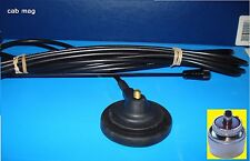 TAXI Mag Mount Antenna PL259 COMPLETE 60 mm base Black Deluxe 162-174 MHz PMR