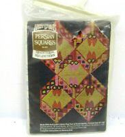Vintage Aunt Lydia's Persian Squares Rug Hook Punch Traditional Rug Pattern 504