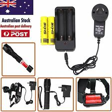 2x 18650 Lithium Battery And Charger Apply to Flashlight And Headlight AU-30