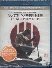 2 Blu-ray **WOLVERINE L'IMMORTALE + X-MEN LE ORIGINI** con Hugh Jackman 2013