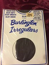 Wow!  Vintage Burlington queen size grey mist pantyhose