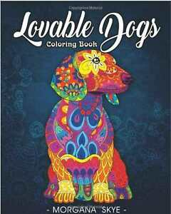 Lovable Dogs Adult Colouring Book Animals Pets corgis bulldogs poodles pugs