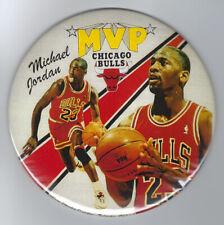 "1988 Michael Jordan MVP 6"" photo button HUGE original pin rare Chicago Bulls"