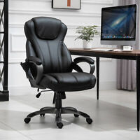 Vinsetto 4-Point Vibration Massage Executive Office Chair High Back Height