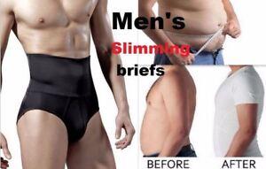 MENS ABDOMEN GIRDLE HIGH WAIST CINCHER BODY SCULPTING SHAPEwear SLIMMING BRIEFS