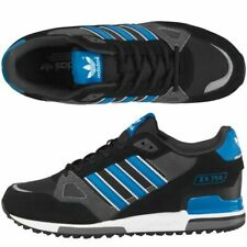 NEW Adidas Originals Mens ZX 750 Suede Trainers Sneakers Black/Blue Casual Shoes