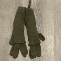 Charlie Paige Womens Knit Gloves Olive Green Long Doubled Over Warm New O44
