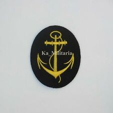 WWII GERMAN KRIEGSMARINE P.O. LINE BADGE ON NAVY BLUE FELT