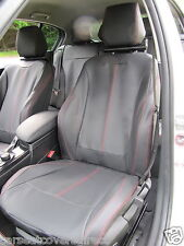 BMW 1 SERIES F20 BLACK WITH RED STITCHING CAR SEAT COVERS