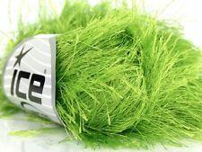 38Yds 50gr Lime Green Extra Long Eyelash Yarn Ice Fun Fur 17154