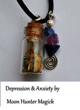 Anti-depression Anti-anxiety Charm Necklace Talisman Amulet Crystal Healing