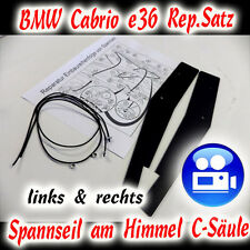 BMW Cabriolet E36 Kit de réparation Corde de tension AM ciel borne-c