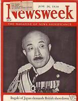 1939 Newsweek June 26-French submarine Phenix goes down