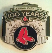 BOSTON RED SOX 2012 OPENING DAY FENWAY PARK 100 YEARS Lapel Pin white variation