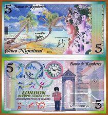 Kamberra, Kingdom, 5 Numismas, 2012, UNC > London Olympic Games