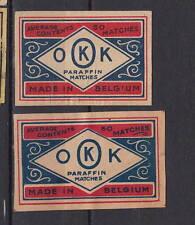 Ancienne   étiquette    allumettes Belgique   AZ5303  OKK Average 50