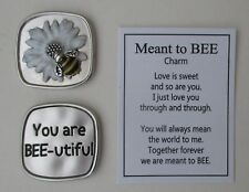 m You are beautiful MEANT TO BEE Pocket token charm bumblebee Ganz bee-utiful