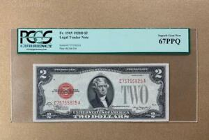 •SUPERB GEM• 1928D $2 Red Seal Legal Tender - PCGS Gem Uncirculated CU 67PPQ C2C