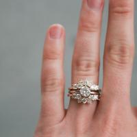 1.50 Ct Round Cut Diamond Enhancer Wrap Engagement Wedding Ring 10K Yellow Gold